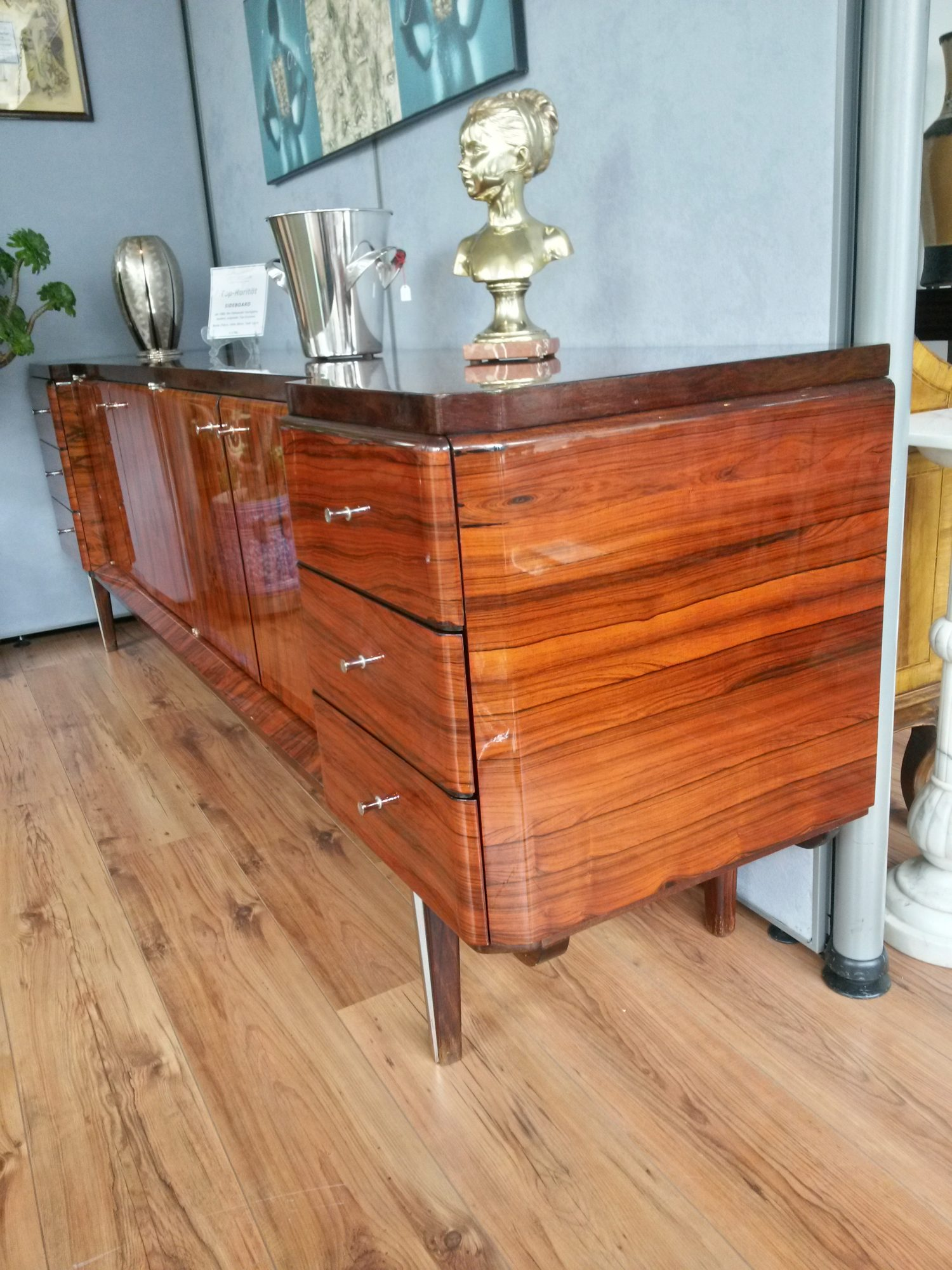 Art Deco Sideboard Palisander Hochglanz Artenreich