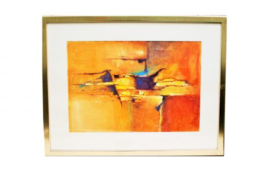 Expressives Gemälde 60er Jahre